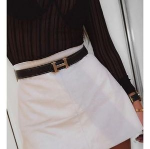 Lulus suede mini skirt